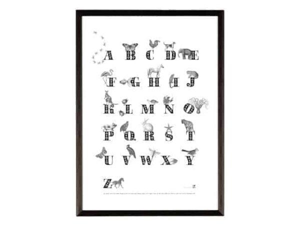 Ros Shiers Animal ABC Print A3