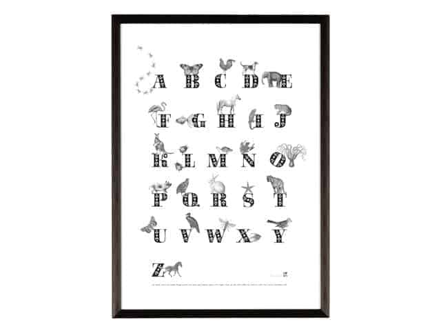 Ros Shiers Animal ABC Print A3