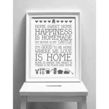 Karin Akesson Home Sweet Home Print A3