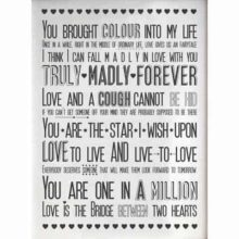 Love Sayings Print