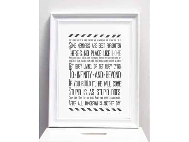Karin Akesson Movie Quotes Print A3