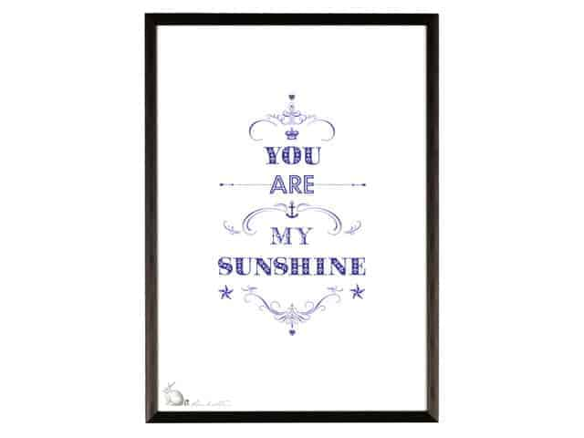 Ros Shiers You Are My Sunshine Print A3