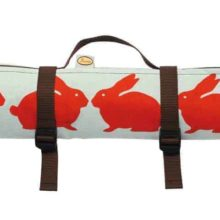 Anorak Kissing Rabbits Picnic Blanket