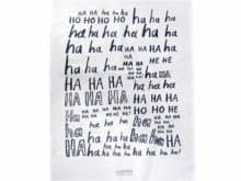 Laughter is the best medicine Ha ha ha, ho ho ho Kitchen Towel
