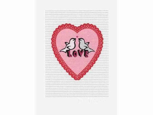 Petra Boase Love Birds & Heart Wall Print A4