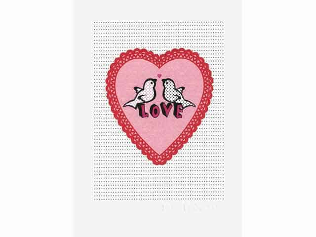 Petra Boase Love Birds & Heart Wall Print A4