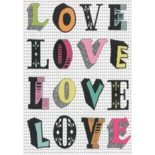 Petra Boase LOVE LOVE Greeting Card