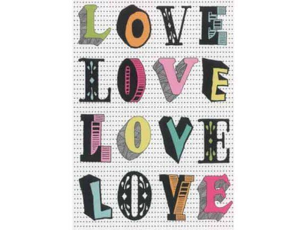 Petra Boase LOVE LOVE Greeting Card