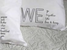 Karin Akesson Printed Pillowcase - We go together like Bees and Honey