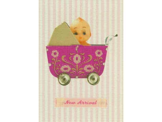 Petra Boase New Baby Girl Greetings Card