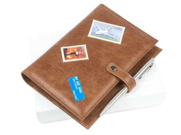 Cracked Leather Travel Journal