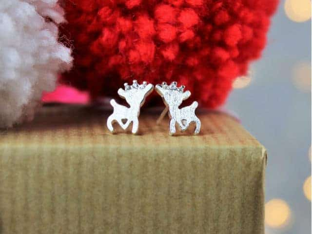 Reindeer Christmas Earrings