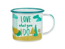Thoughtful Gardener Enamel Gardening Mug