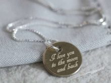 Moon and Back Personalised Necklace