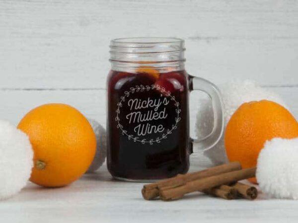 Mulled Wine Personalised Mason Jar