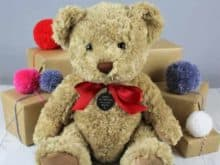 Bramble Bear Baby's First Christmas Personalised Bear