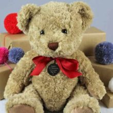 Baby's First Christmas Bramble Bear Personalised Cuddly Toy