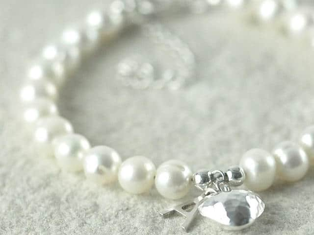 Freshwater Pearl Bracelet with Initial