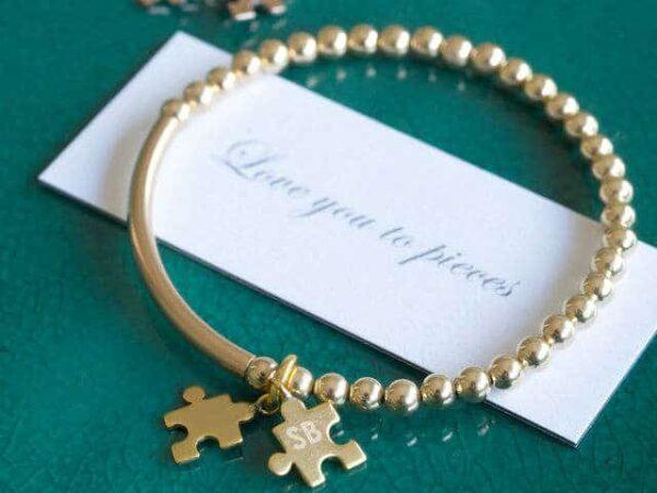 Love You To Pieces Jigsaw Piece Bracelet