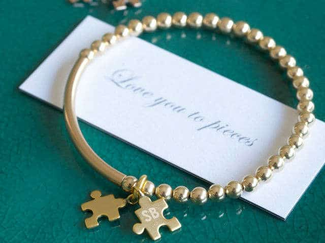Love You To Pieces Jigsaw Piece Bracelet