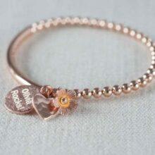 Rose Gold Stretch Bracelet