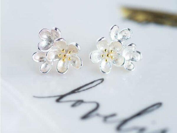 Sterling Silver Posie Earrings