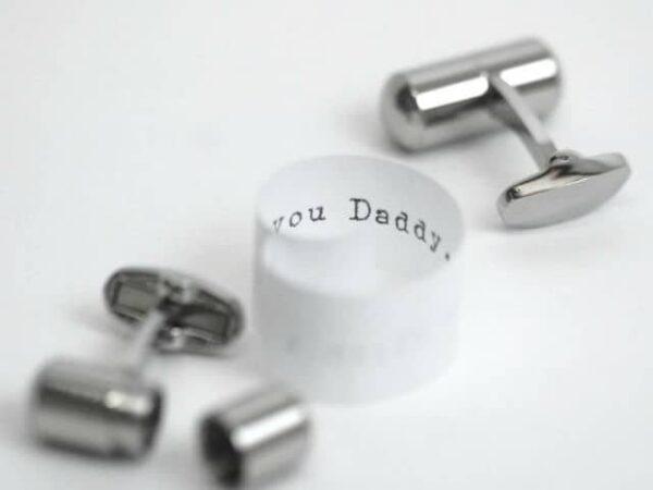 Secret Message Deluxe Cufflinks