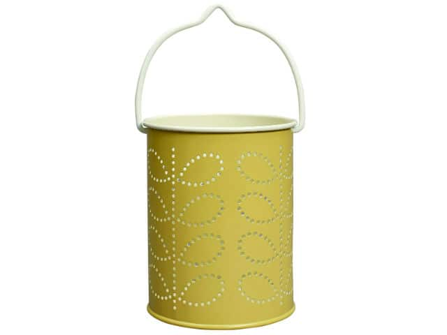 Orla Kiely Tealight Lantern Linear Stem Yellow