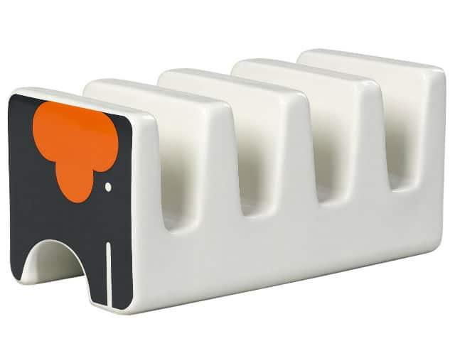 Orla Kiely Ela Elephant Ceramic Toast Rack