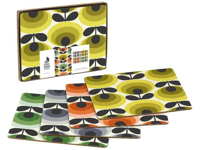 Orla Kiely Table Placemats 70s Oval Flower Multi Set of 4