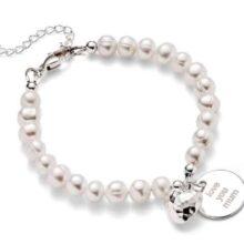 Personalised Pearl Pendant Bracelet