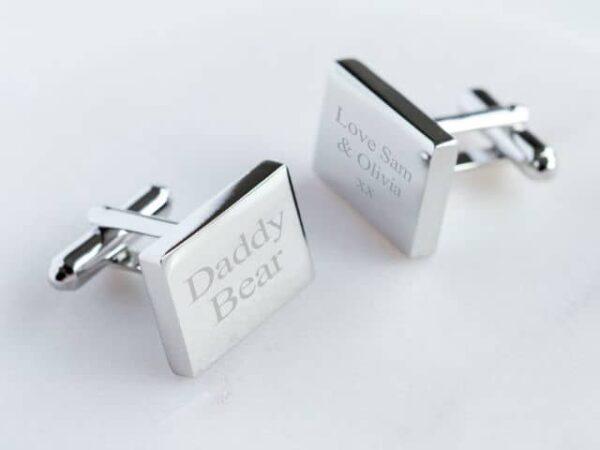 Personalised Rectangular Cufflinks