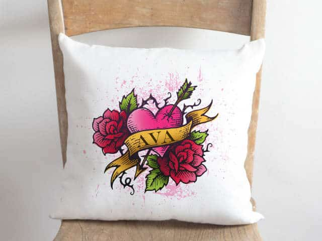 Rebel Heart Cushion