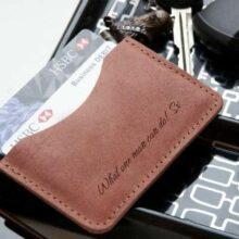 Leather Personalised Single Pocket Slim Wallet