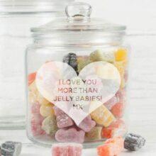 Personalised Heart Sweet Storage Jar