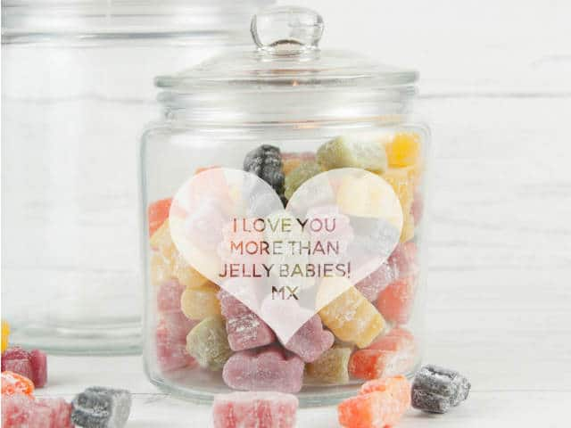 Personalised Heart Sweet Storage Jar