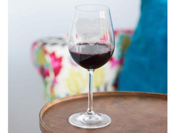 Personalised Heart Wine Glass