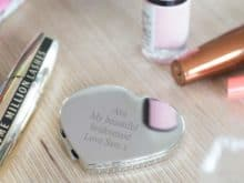 Personalised Heart Compact Mirror