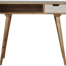 Mango Wood Writing Desk with Hand Painted Drawer