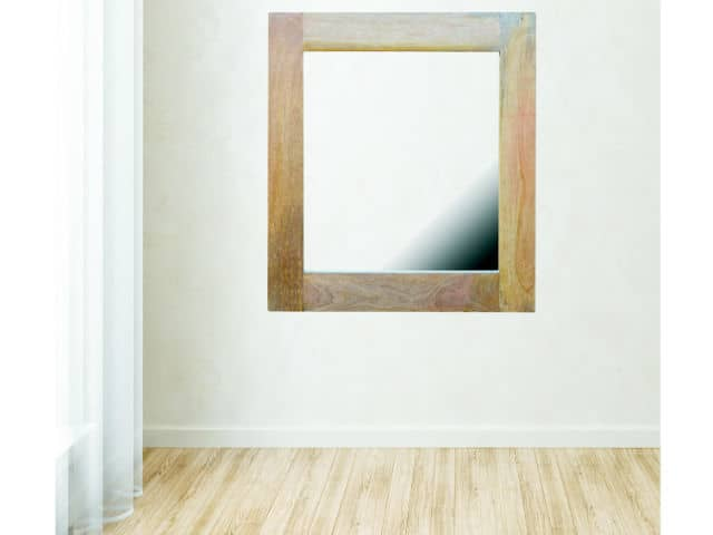 Mango Wood Square Mirror