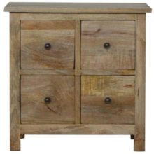 Country Style 4 Drawer CD Cabinet