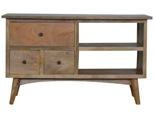 Nordic Style Media Unit 3 Drawers 2 Shelves