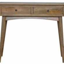 2 Drawer Solid Wood Hallway Console Table