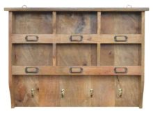 Wooden Coat Hooks and Storage Unit