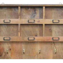 Wooden Coat Hooks and Storage Unit