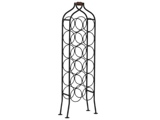 Traditional Iron Wine Rack 84cm High