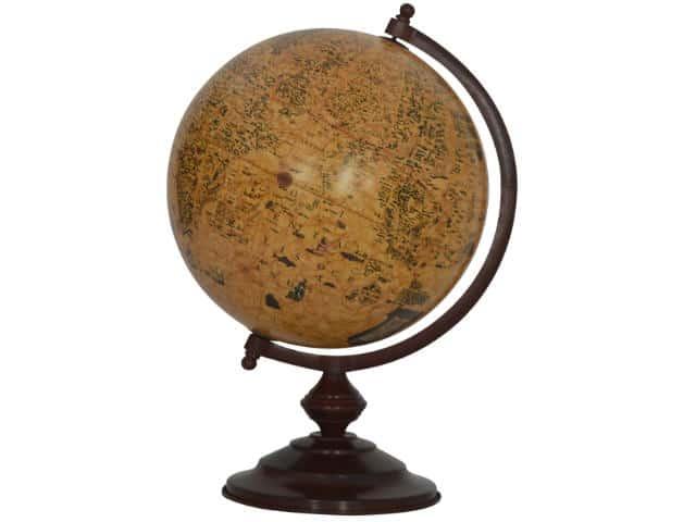 Wooden Vintage Globe 30cm