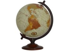 Small Wooden Vintage Globe 25cm