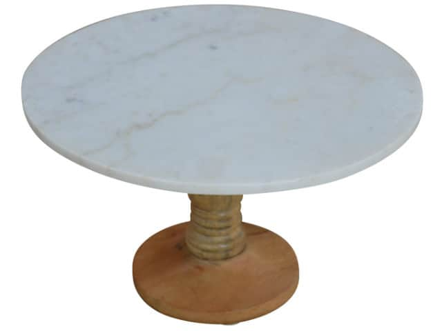 Marble Top Round Cake Stand 30cm