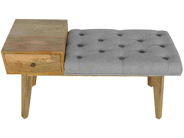 Tweed Telephone Bench Tweed Upholstered Wood Telephone Table